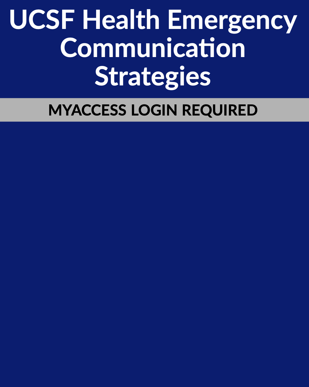 UCSF Health Emergency Communication Strategies
