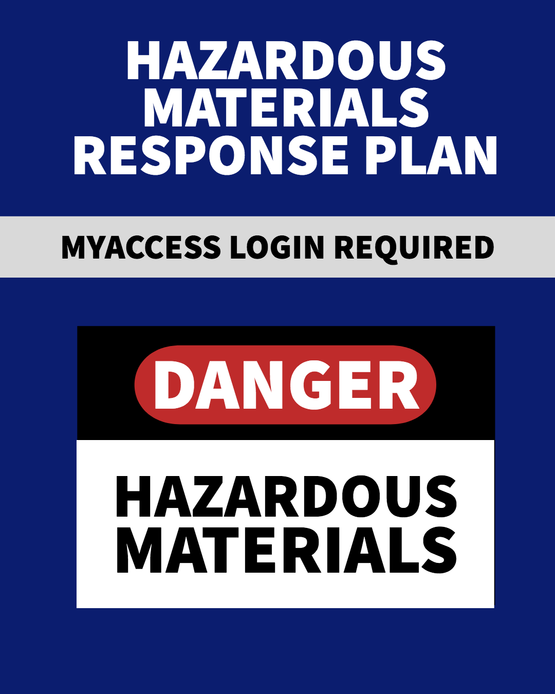 Hazardous Materials Response Plan