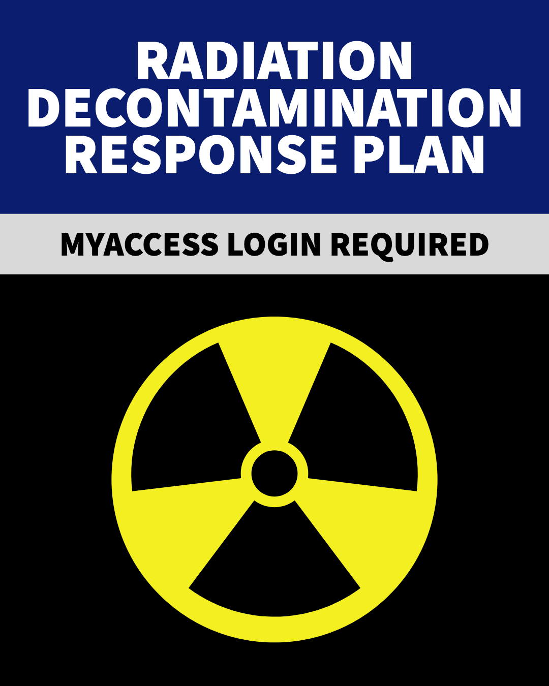 Radiation Decontamination Response Plan
