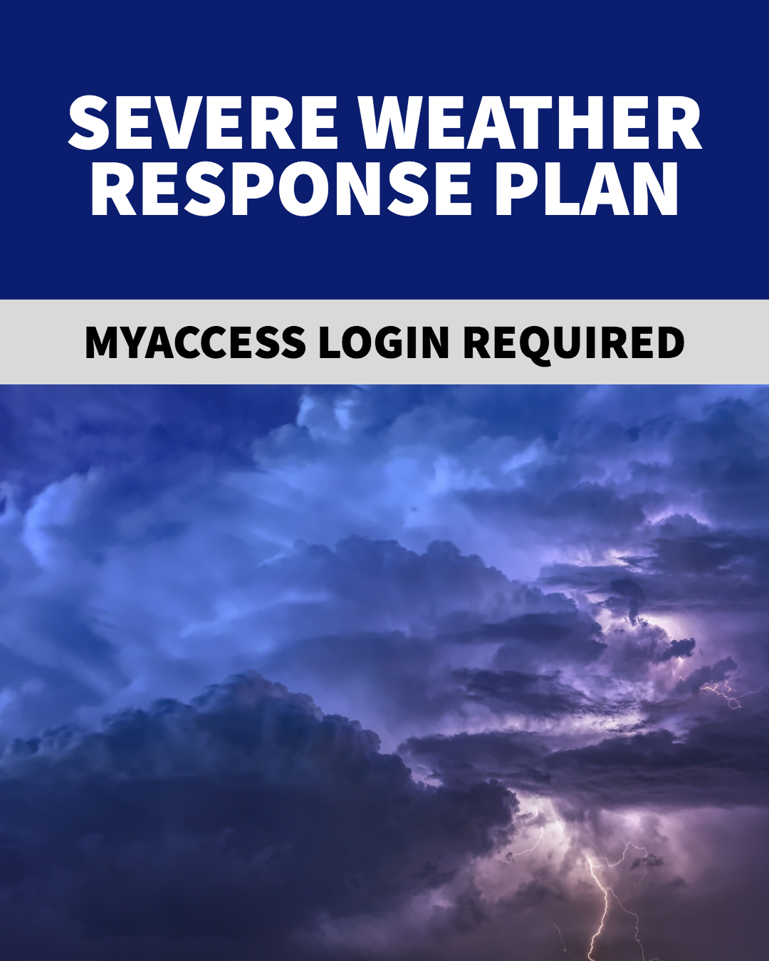 Severe Weather Response Plan